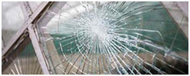 Oval Smashed Glass